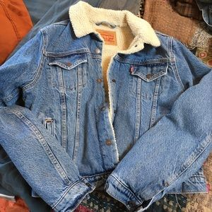 Levi's Sherpa lined denim trucker jacket, XL